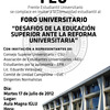  &quot;Desafios de la Educacin Superior Ante la Reforma Universitaria&quot;